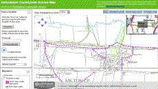 Countryside Access Map of Bloxham