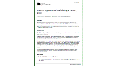 National Health & Wellbeing