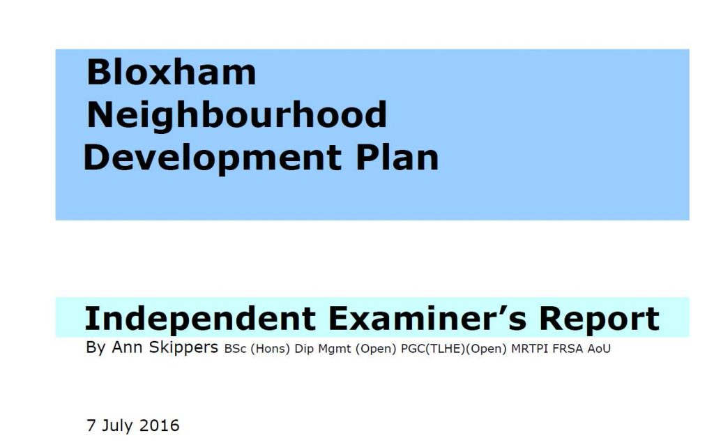 Examiners Report says 'yes' to Plan