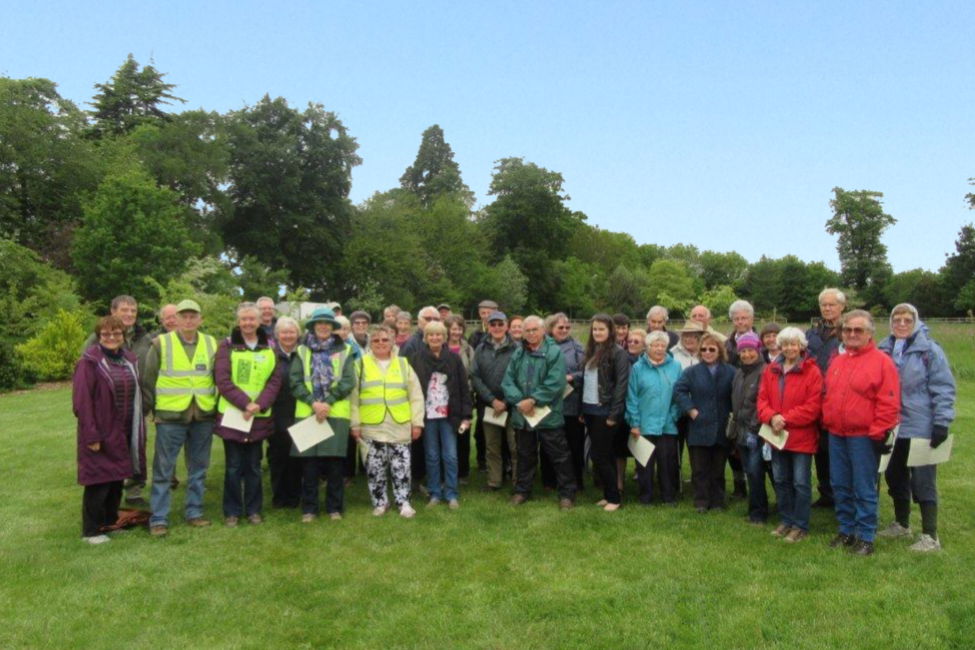 Local group on the circular walk route
